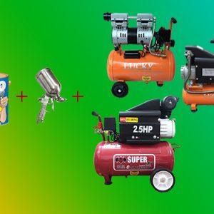 Một số loại máy bơm hơi phun sơn trên thị trường