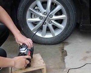 Nen lựa chọn loại máy có thiết kế siêu nhỏ gọn để bơm ô tô