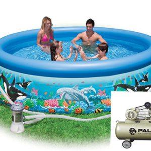 Nên mua máy bơm hơi bể bơi mini có thương hiệu uy tín