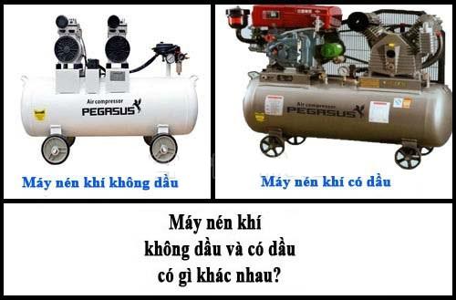 máy nén khí không dầu và có dầu