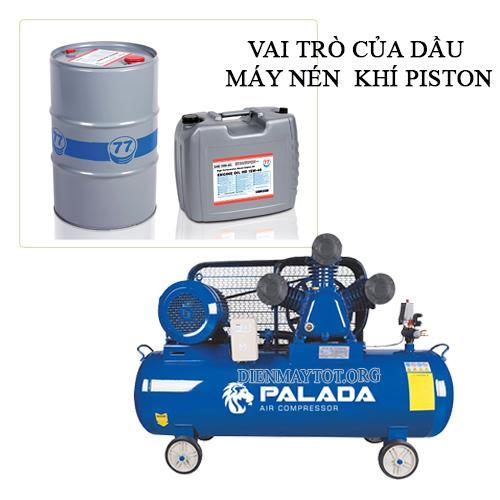vai trò của dầu máy nén khí piston