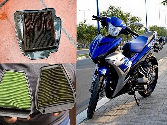 thay lọc gió xe máy định kỳ
