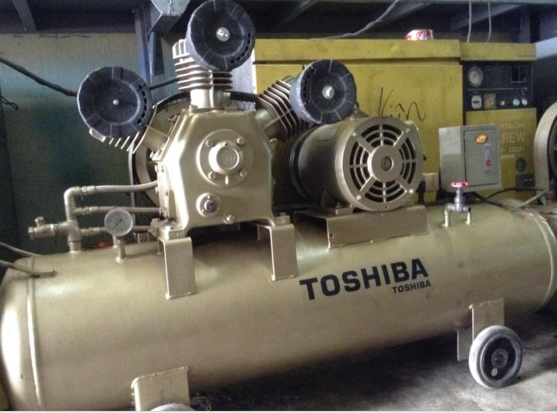 Máy bơm hơi Toshiba được thiết kế nhỏ gọn, bóng đẹp