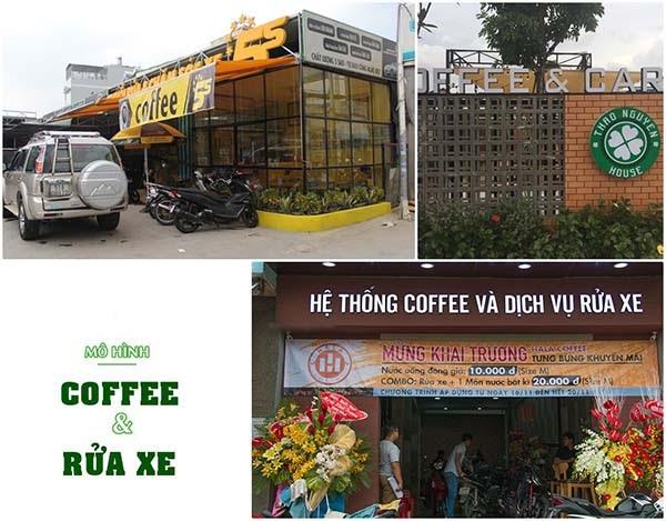 Mô hình kết hợp rửa xe với Cafe