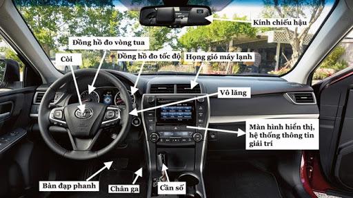 Tên gọi các bộ phận trên xe ô tô - phần nội thất