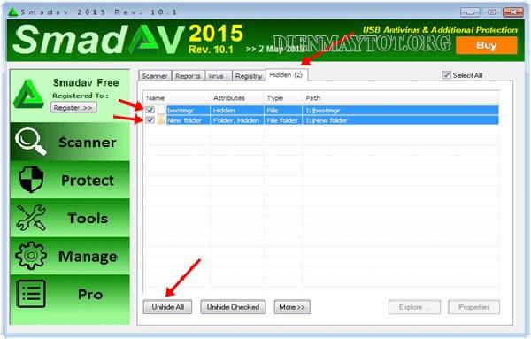 phần mềm hiện file ẩn trong usb miễn phí