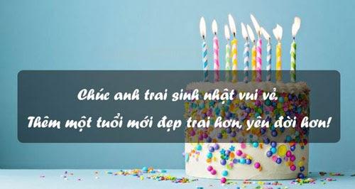 Lời chúc mừng sinh nhật dành cho anh trai