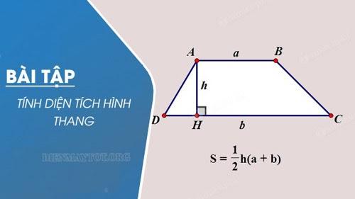 Các dạng bài tập tính chu vi, diện tích hình thang