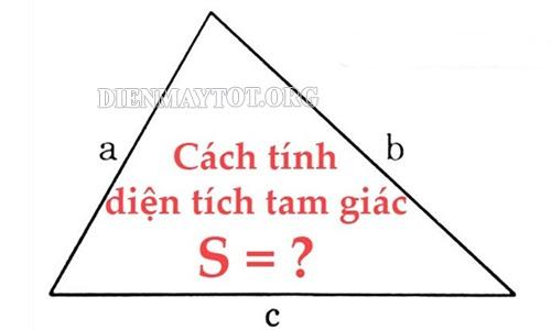 các công thức tính diện tích tam giác