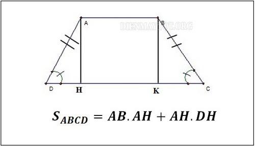 Công thức tính diện tích hình thang cân