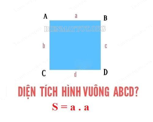 Công thức tính diện tích hình vuông lớp 3