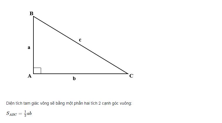 Tam giác vuông có một góc bằng 90 độ