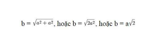 Công thức tinh đường chéo hình vuông