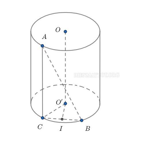 công thức tính thể tích hình trụ tròn