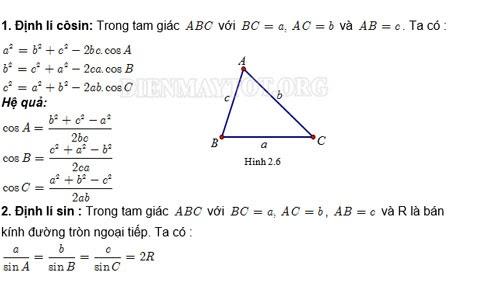 Hệ thức lượng trong tam giác thường
