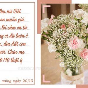 Những lời chúc 20 tháng 10 dành cho người yêu