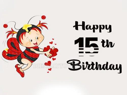 lời chúc mừng sinh nhật con gái 15 tuổi