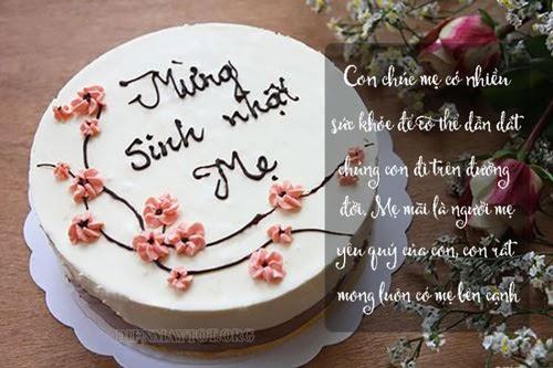 Những lời chúc sinh nhật mẹ ngọt ngào