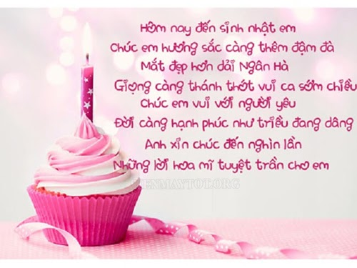 Thơ chúc mừng sinh nhật người yêu ở xa