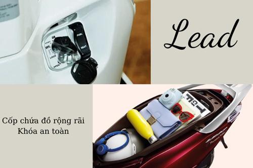 Xe Lead có cốp rộng đựng được nhiều đồ đạc