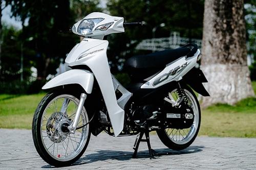 Xe Wave màu trắng hiện đại, trẻ trung