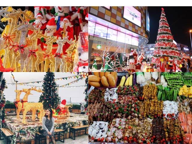 phố chợ ẩm thực nhiều món ăn