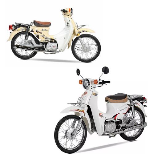 Xe cub màu trắng sữa và màu
