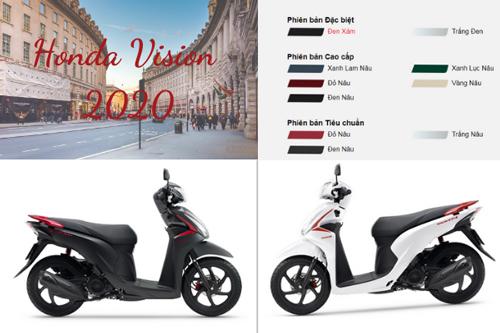 Xe vison phiên bản chuẩn và cao cấp có nhiều điểm tương đồng với nhau