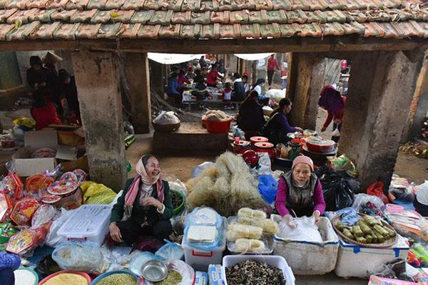 chợ tết xưa
