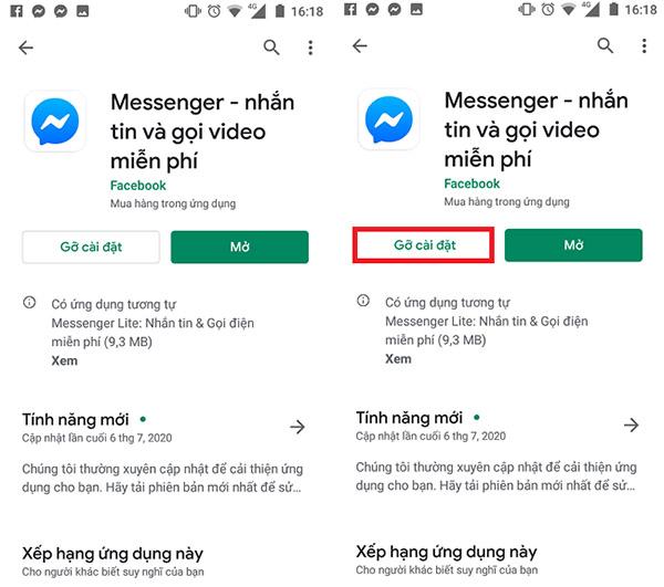 messenger bị lỗi không đăng nhập được