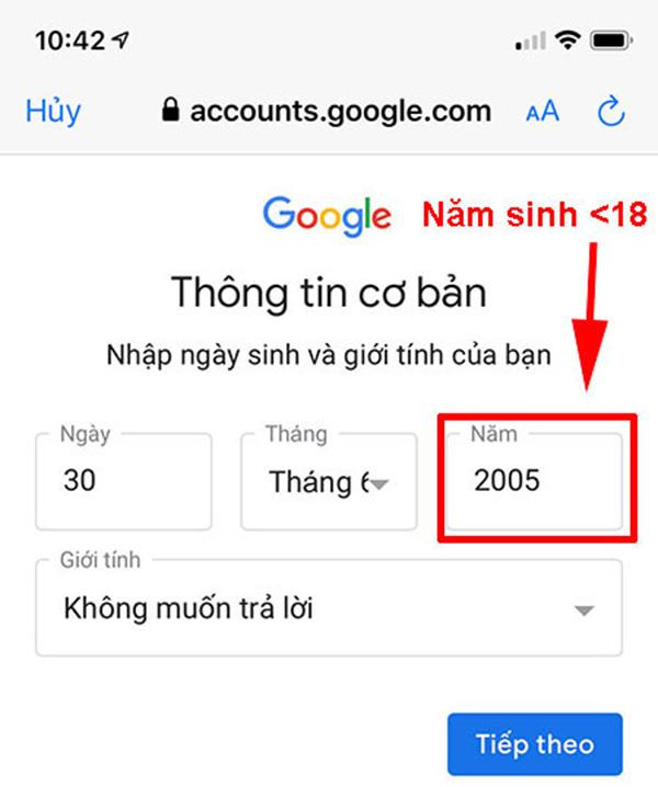 lập tài khoản gmail không cần số điện thoại