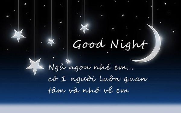 Tin nhắn chúc ngủ ngon thương nhớ