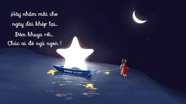 Chúc ngủ ngon bằng thơ