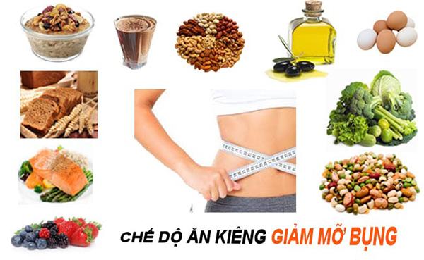 Kết hợp chế độ ăn uống khoa học để giảm mỡ bụng cho nữ