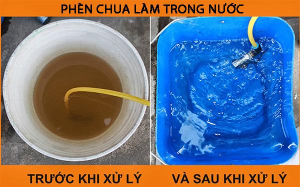 Phèn chua giúp nước trong và sạch hơn