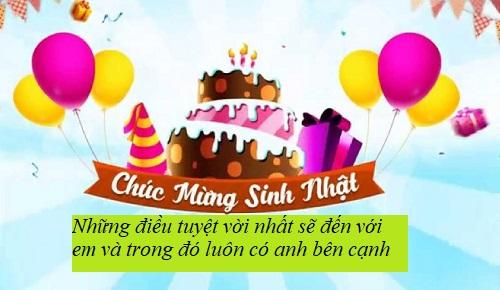 Lời chúc sinh nhật bạn gái ngắn gọn ý nghĩa