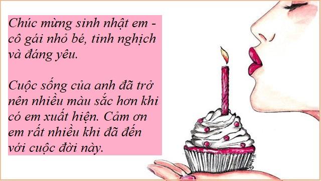 Lời chúc sinh nhật bạn gái thân tình cảm, ý nghĩa