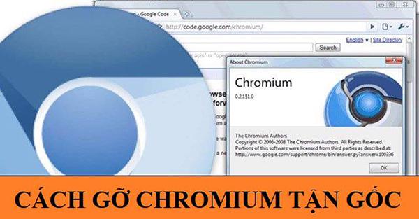 xóa chromium khỏi máy tính