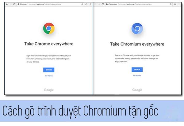 cách xóa tận gốc chromium