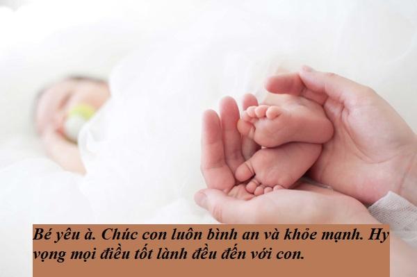Lời chào của em be mới sinh