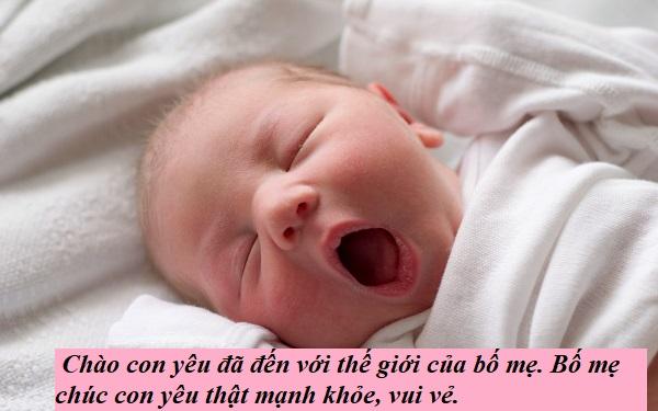 Thiệp chúc mừng em be mới sinh