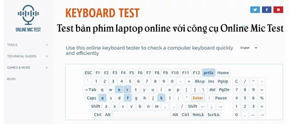 test keyboard laptop