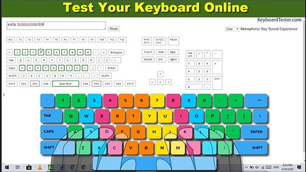 test bàn phím online