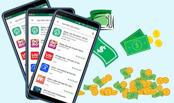 Kiếm tiền trực tuyến với các app điện thoại