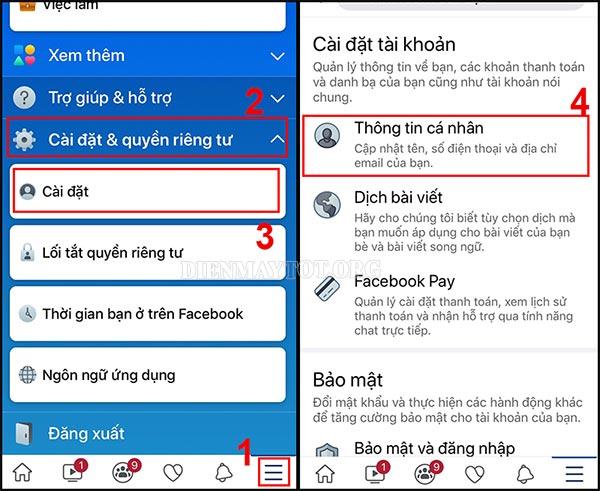 cách khoá nick facebook tạm thời trên iphone